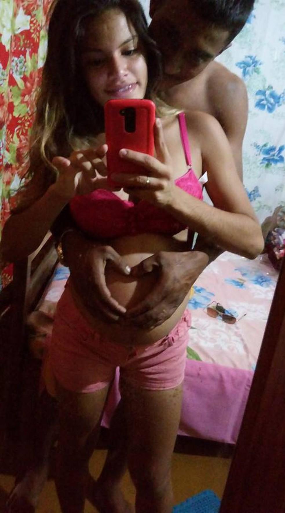 Luaine Cerqueira Nascimento junto com esposo (Foto: Arquivo Pessoal)