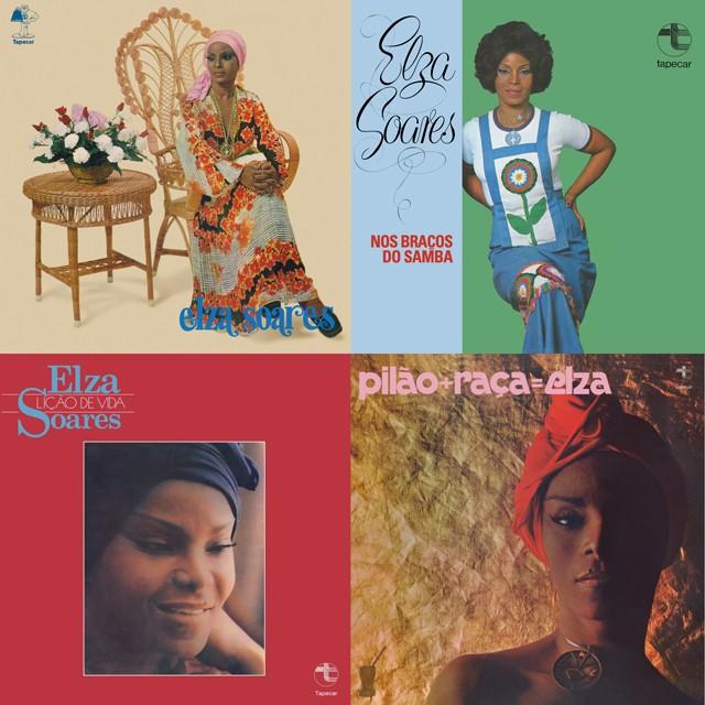 Elza Soares relança quatro álbuns gravados entre 1974 e 1977