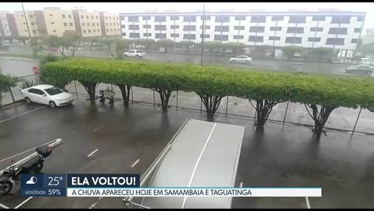 Chuva reaparece nesta quinta-feira em Taguatinga e Samambaia