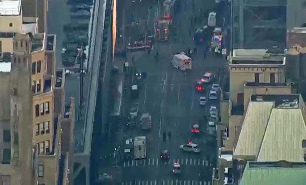 Polícia foi acionada após relatos de explosão em Nova York (Foto: NBC)