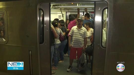 Linha Centro do Metrô do Recife volta a funcionar após problema em cabos
