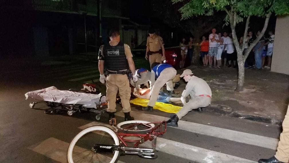 Sargento aposentado é baleado ao tentar separar briga em Campo Mourão, diz polícia — Foto: Dione Correia/Hora Certa