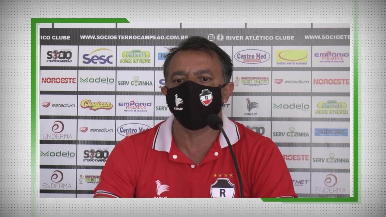 Vídeo: preparador físico do River-PI, Pedro Henrique detalha maratona a 53 dias da Série D