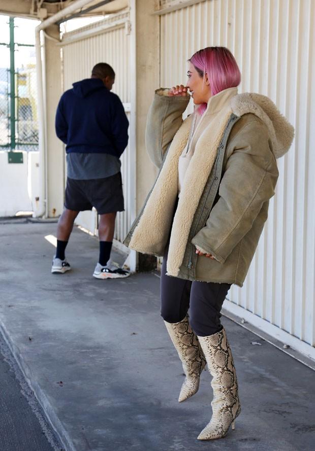 Kim Kardashian e Kanye West (Foto: The Grosby Group)