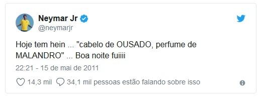 Neymar resume em um tuíte o signo de aquário (Foto: Reprodução / Twitter)
