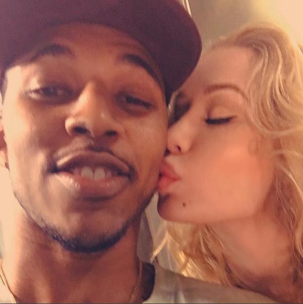 A cantora Iggy Azalea com seu ex-noivo, Nick Young (Foto: Instagram)