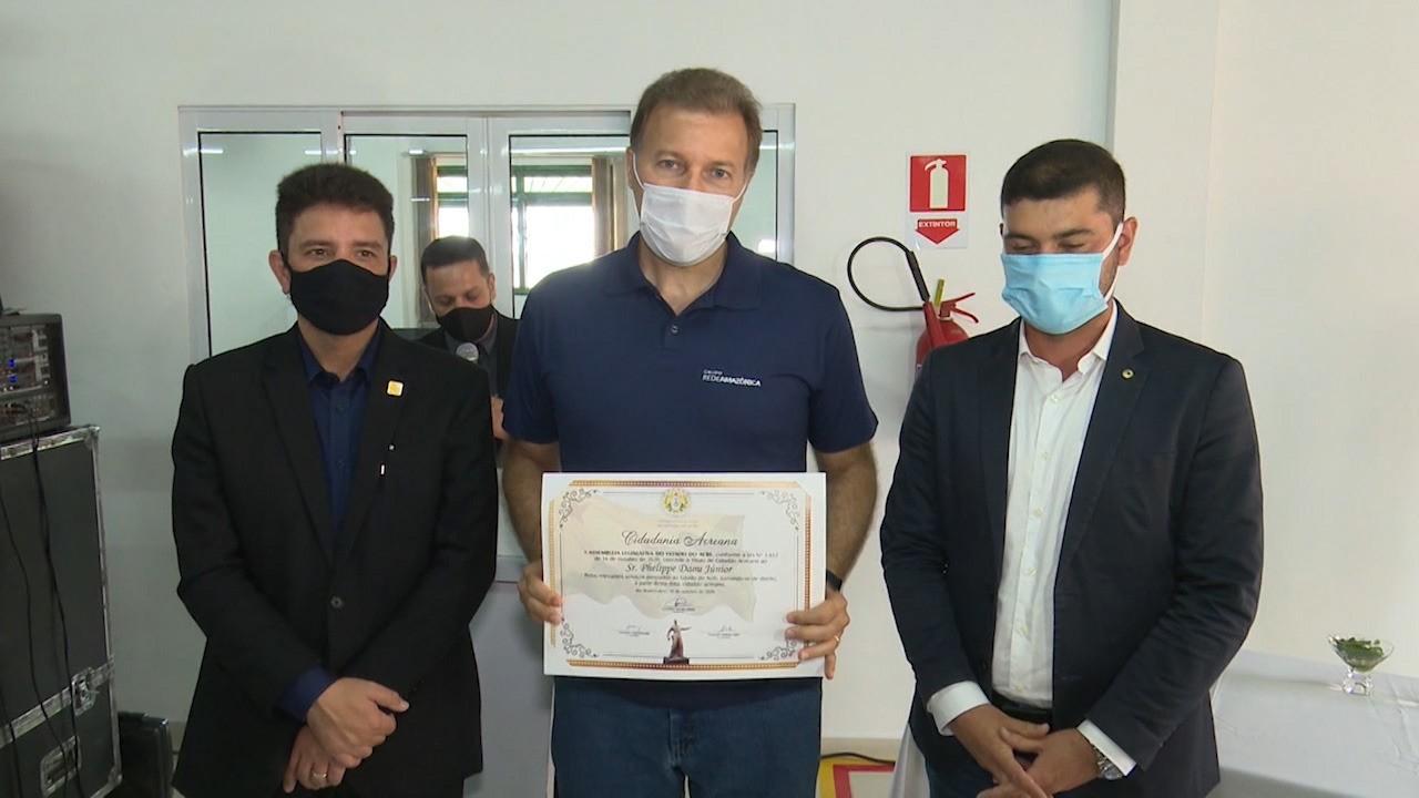 CEO do Grupo Rede Amazônica recebe título de cidadão acreano