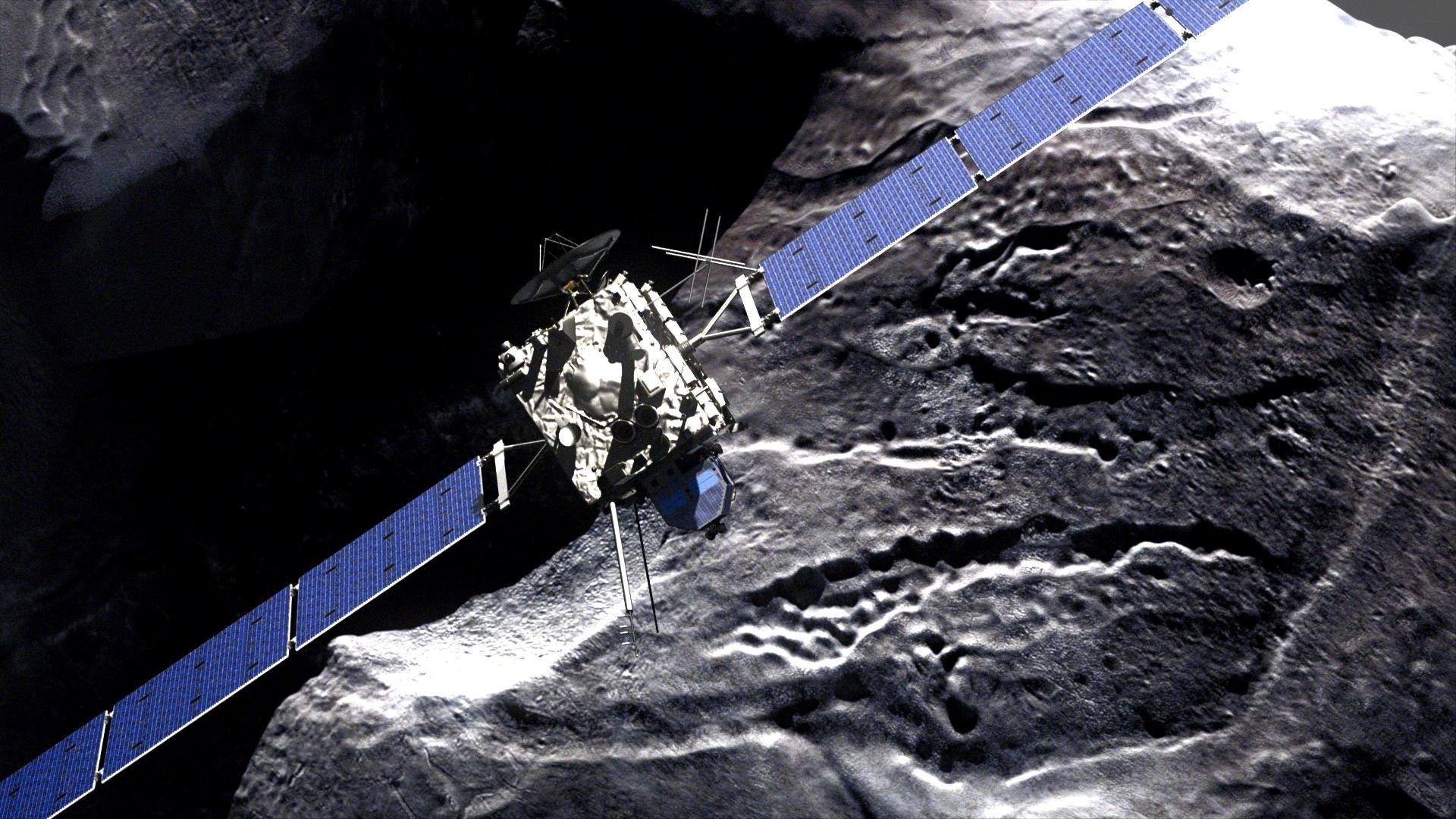 Ilustração da sonda Rosetta   (Foto: Divulgação/ESA  )