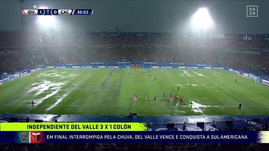 """Após dilúvio na final da Sul-Americana, Lédio constata: """"Como dá azar a Conmebol"""""""
