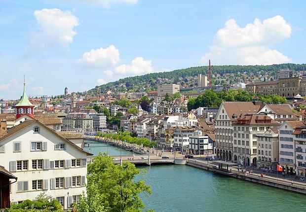 Zurique, na Suíça (Foto: Pixabay)