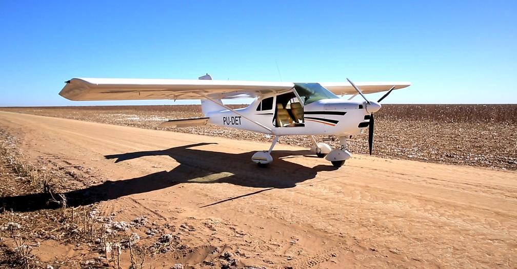 Fotografia do avião minutos antes da última decolagem — Foto: Arquivo Pessoal
