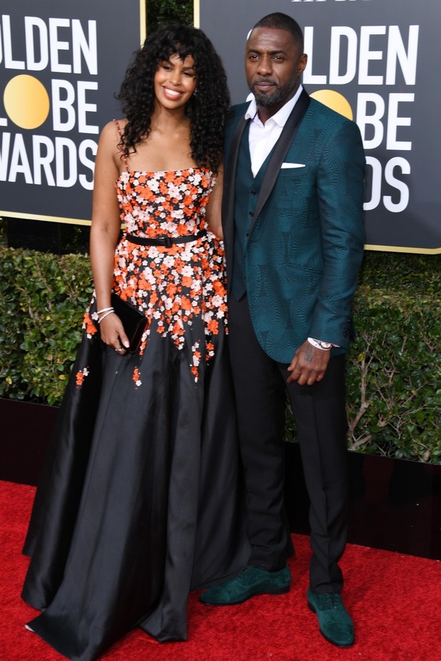 Sabrina Dhowre e Idris Elba  (Foto: Getty Images)