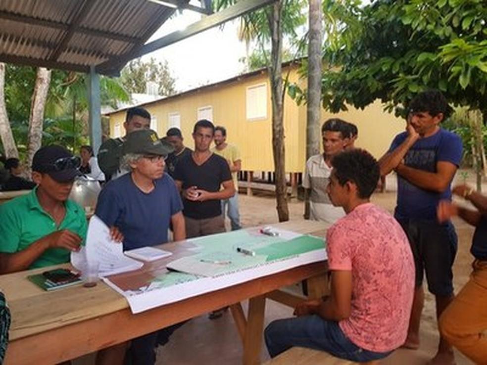 MPF-AM fez visitas à Reserva Extrativista Arapixi no final do ano — Foto: Divulgação/MPF-AM