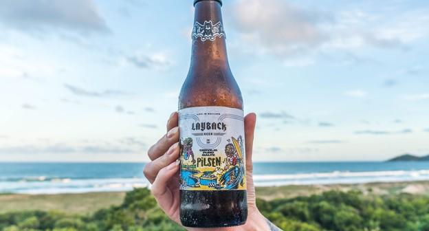 Cerveja da LayBack Beer, marca idealizada pelo skatista Pedro Barros e o pai André Barros