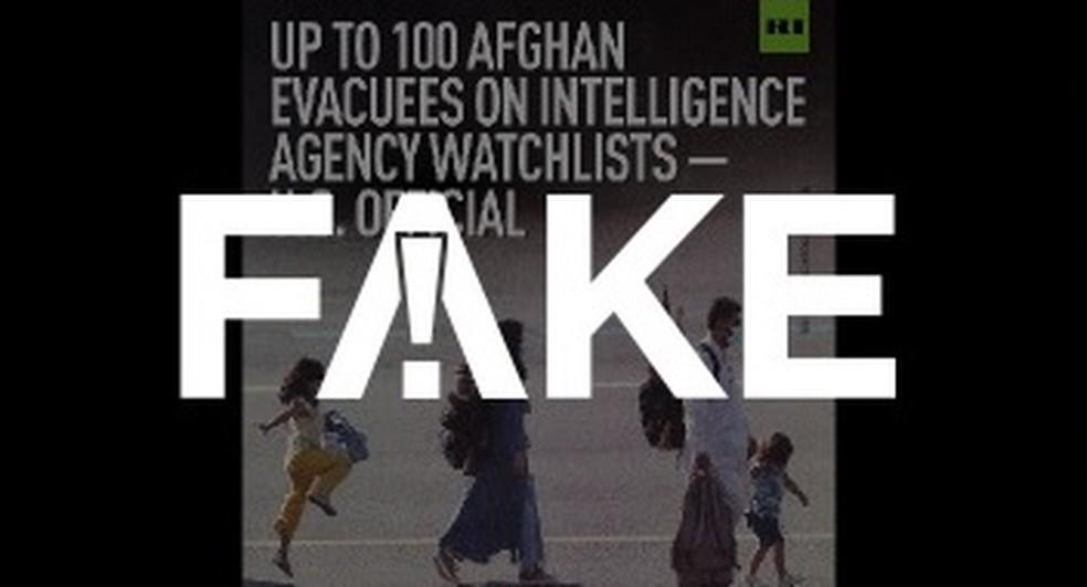 É #FAKE que foto mostre casal afegão com armas e munições em mochilas — Foto: Reprodução
