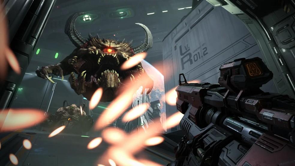 O demônio Pain Elemental poderá ser controlado pelos jogadores no Battlemode, novidade em Doom Eternal — Foto: Divulgação/Bethesda