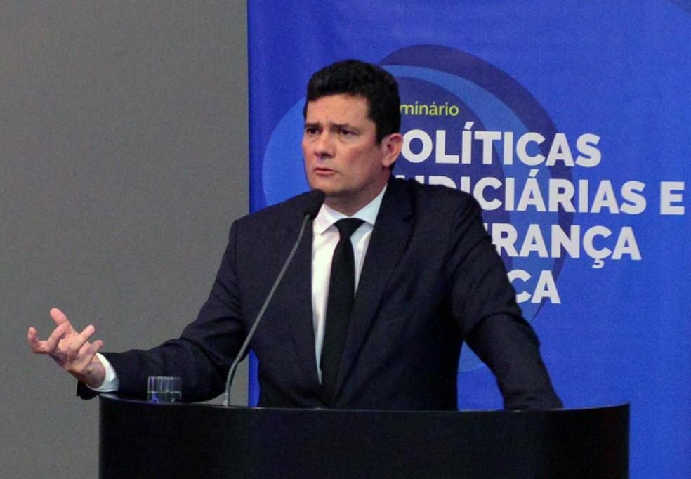 O ministro da Justiça, Sérgio Moro — Foto: Isaac Amorim/MJSP