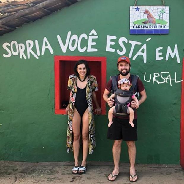 Gregório Duvivier, Giovanna Nader e Marieta (Foto: Reprodução/Instagram)
