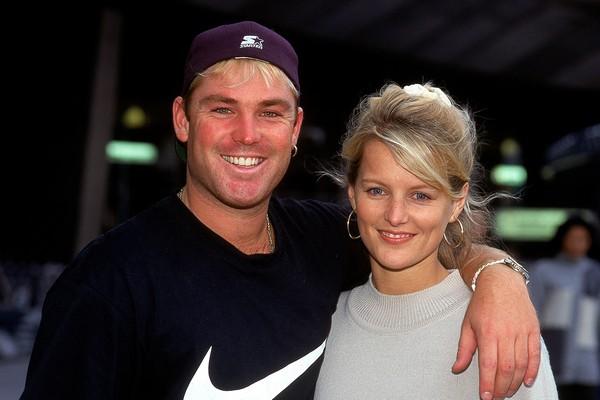 O jogador de críquete Shane Warne e sua ex-esposa, Simone Callahan (Foto: Getty Images)