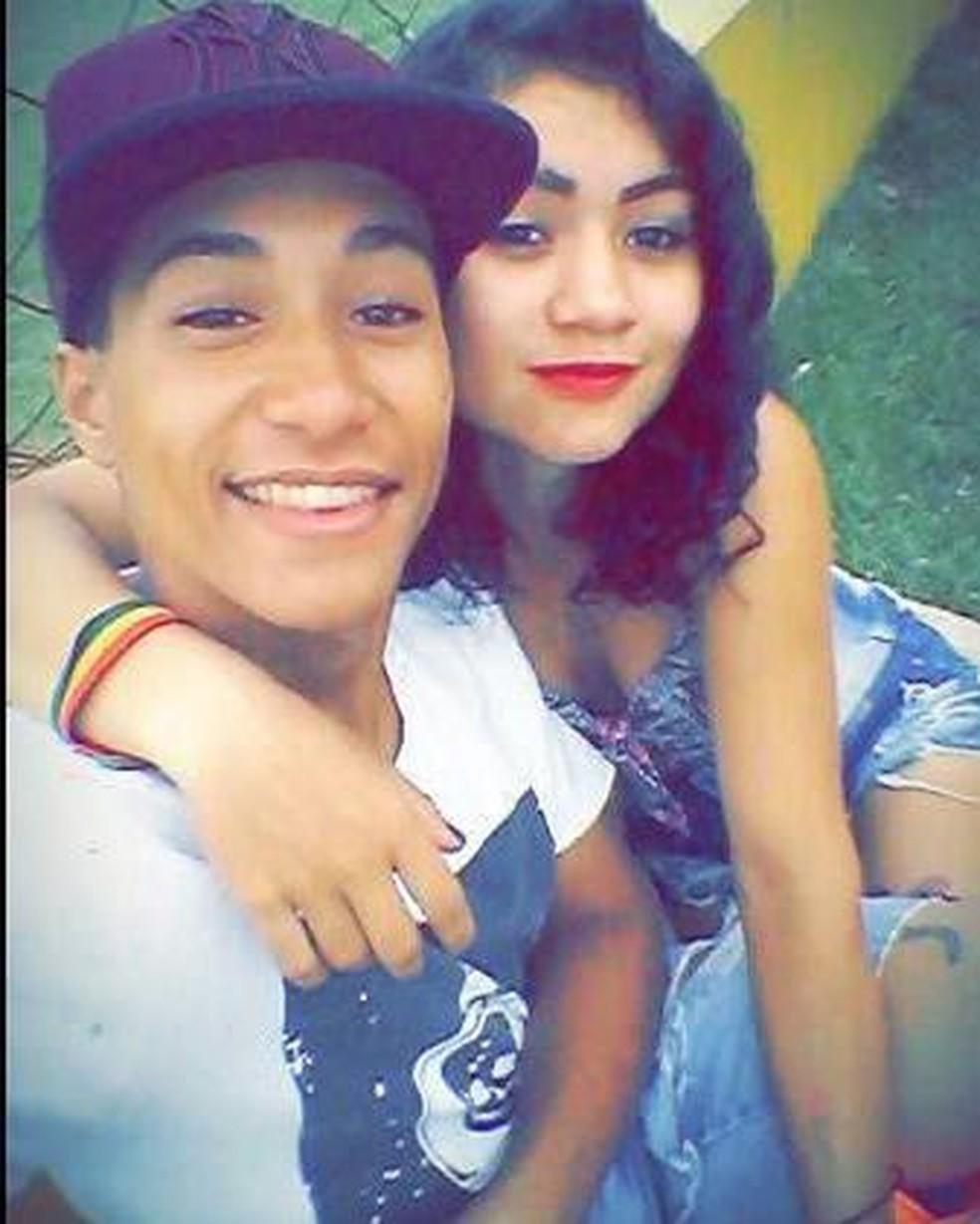 Jovem declara amor por namorada que ele matou após esganá-la com uma corrente de cachorro, em Sidrolândia. — Foto: Facebook/Reprodução
