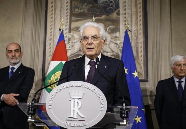 Presidente da Itália, Sergio Mattarella (Foto: EFE)