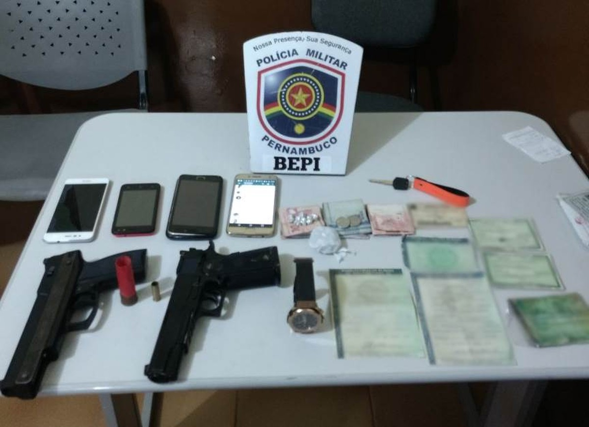 Grupo é detido suspeito de desmanche de motos e Bepi apreende veículos, munições e drogas em Toritama, PE