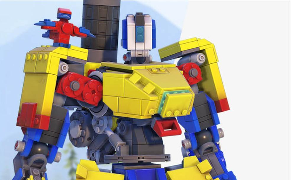 Evento de Overwatch em parceria com a LEGO dará skin épica do Bastion como uma das recompensas — Foto: Divulgação/Overwatch