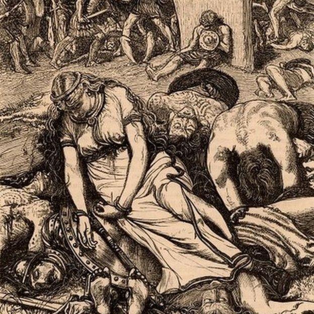 Mesmo após seguidas vitórias, Boudicca perdeu a derradeira batalha para os romanos (Foto: BBC)