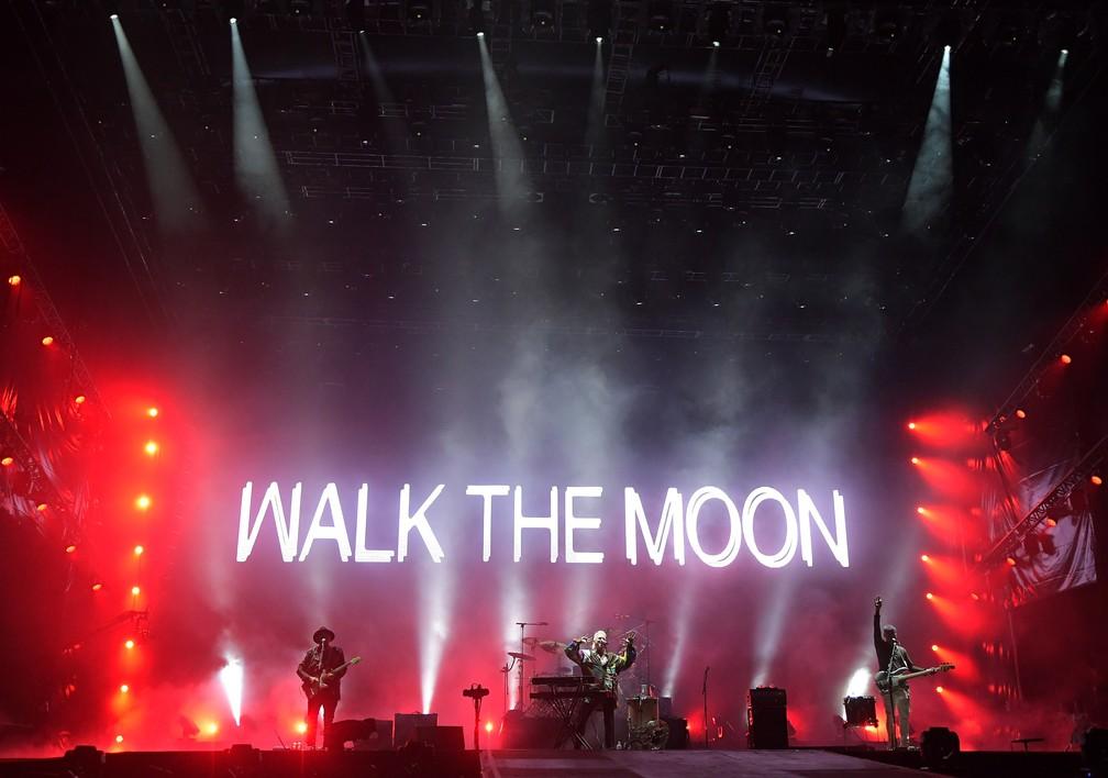 Walk The Moon são a segunda atração do Palco Mundo do Rock in Rio 2017 (Foto: Alexandre Durão/G1)