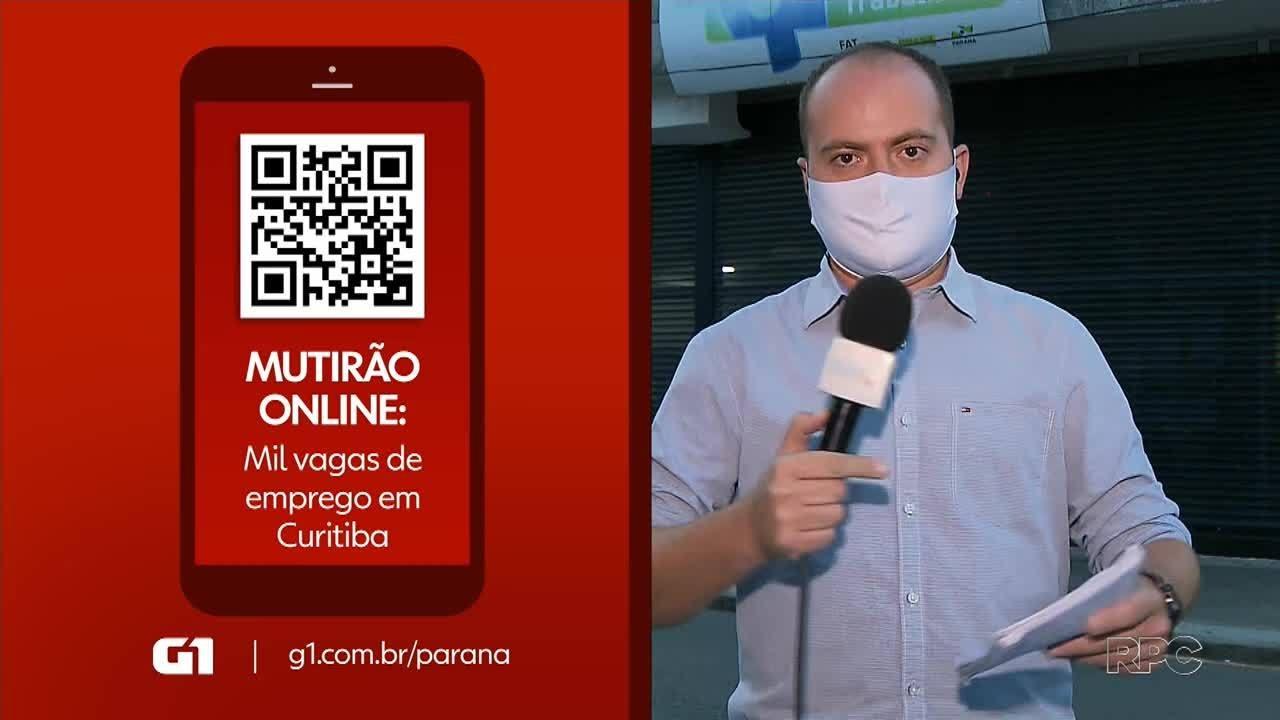 Mutirão online oferece mais de mil empregos em Curitiba