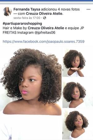 Menina cabelo alisado (Foto: Reprodução Facebook)