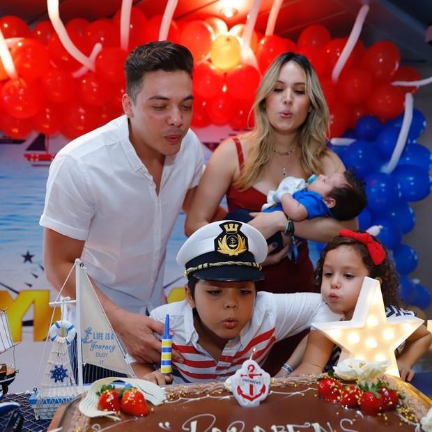 Wesley Safadão comemora aniversário de Yhudi (Foto: Reprodução/Instagram)