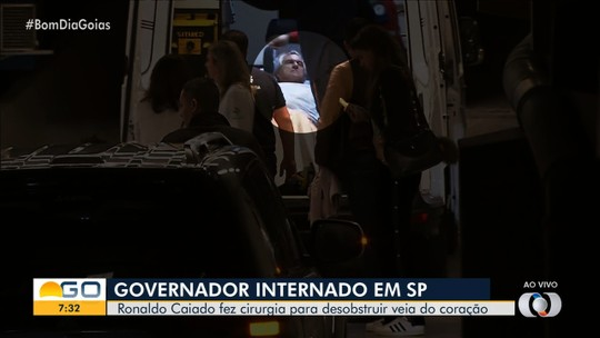 Ronaldo Caiado continua internado em hospital, em São Paulo