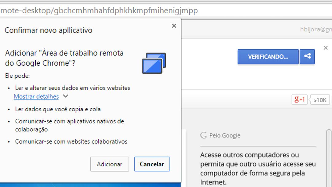 0f28c64702b Chrome Remote Desktop | Download | TechTudo