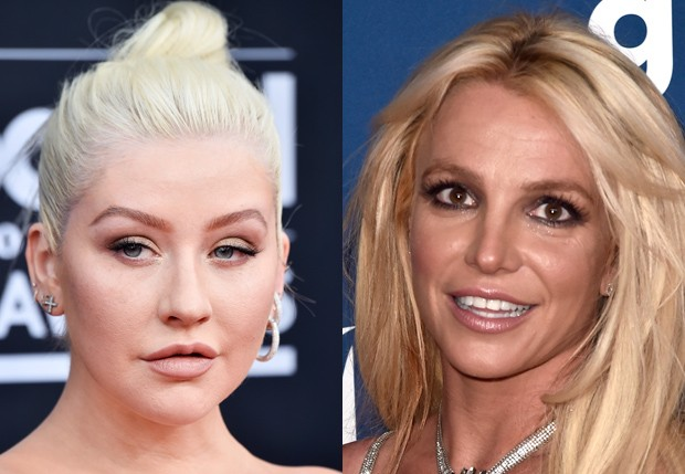 Christina Aguilera e Britney Spears (Foto: Getty Images)