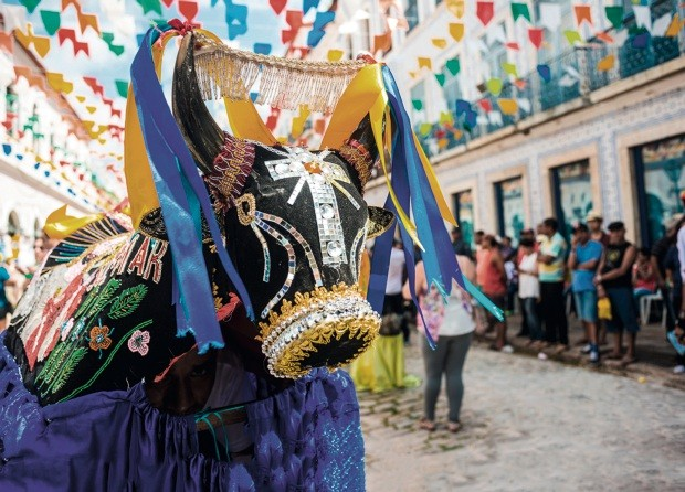 Sao Luis, Maranhao State, Brazil - July 7, 2016: Historic town is preparing for the traditional holiday of bulls (Foto: www.fotoarena.com.br)