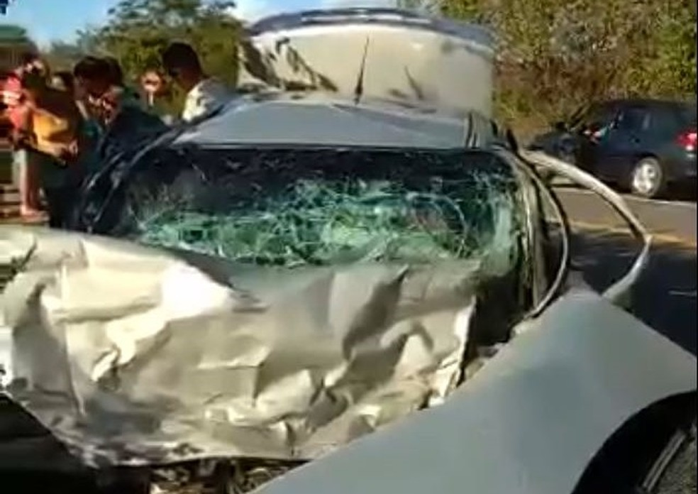 Acidente em Brejo Santo deixou três mortos e duas pessoas feridas (Foto: Arquivo pessoal)