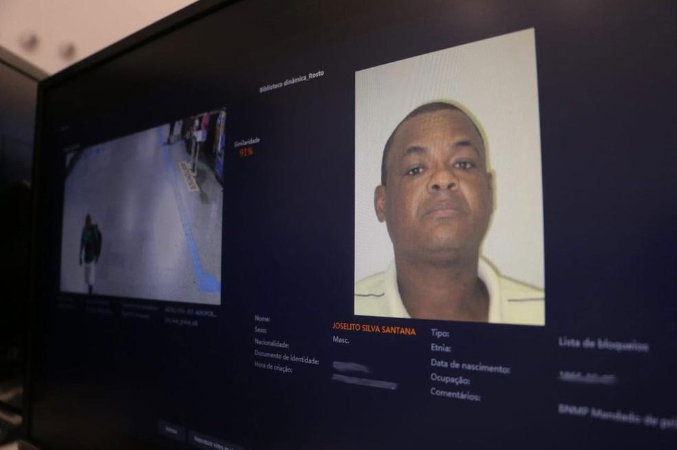 Homem procurado por estupro é preso após ser flagrado por câmeras de reconhecimento facial no metrô de Salvador — Foto: Secretaria de Segurança Pública da Bahia