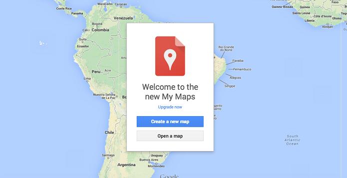 My Maps é o novo serviço do Google que oferece mapas customizados (Foto: Reprodução/Google)