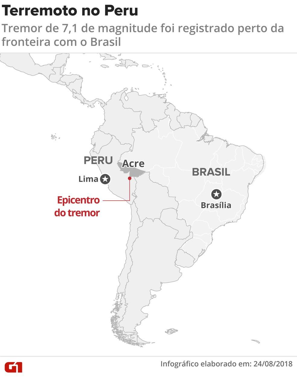 Terremoto no Peru (Foto: Claudia Ferreira / G1)