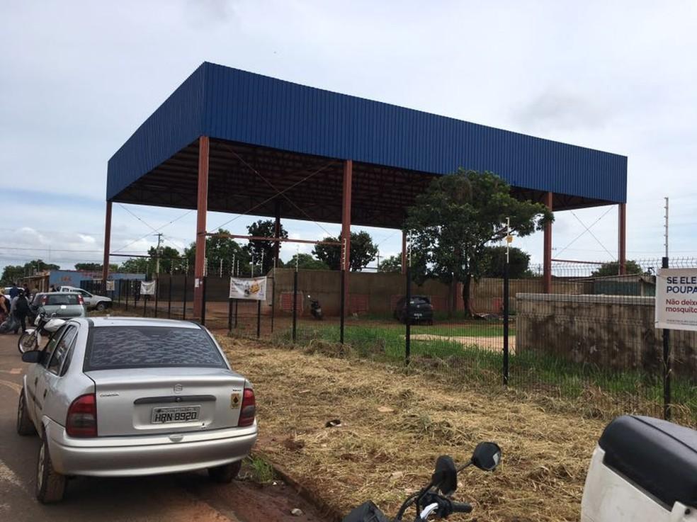 Central de recolhimento de entulhos no Jardim Noroeste, em Campo Grande, foi criado após fechamento de aterro (Foto: Alexandre Cabral/TV Morena/Arquivo)