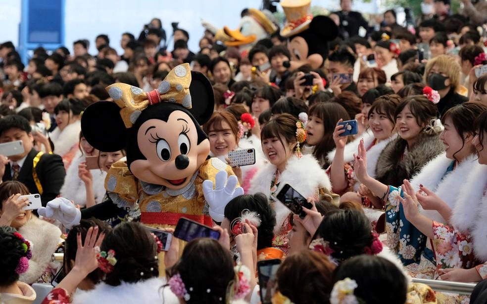 Parque da Disney em Tóquio, em imagem de janeiro de 2020 — Foto: Kazuhiro Nogi / AFP
