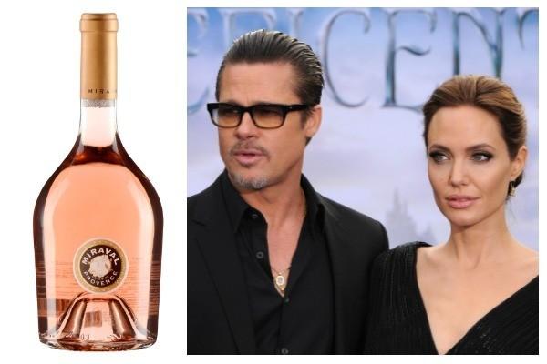Chateau Miraval Rosé / Brad Pitt e Angelina Jolie (Foto: Divulgação / Getty Images)