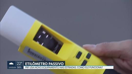 Polícia Rodoviária Federal está usando novo etilômetro