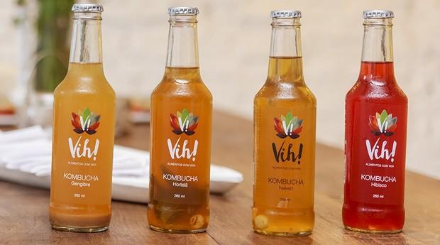 Kombucha da Vih! Alimentos, empresa de Itu (SP) que vende 10 mil garrafas por mês (Foto: Divulgação)