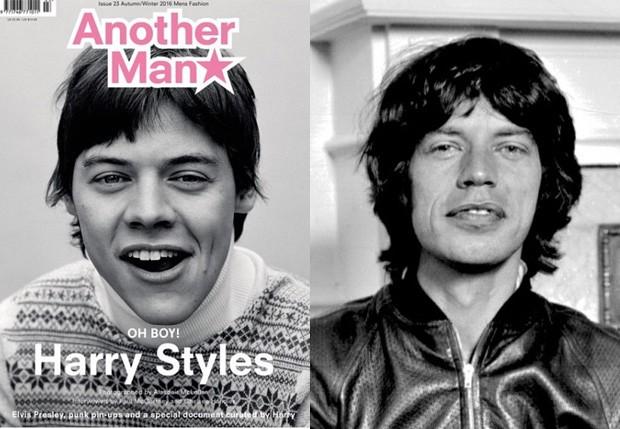 Harry Styles e Mick Jagger (Foto: Reprodução)