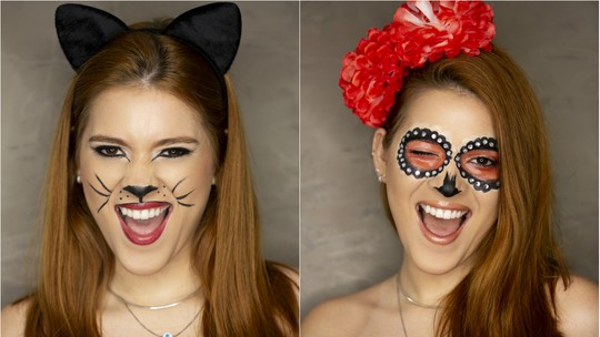 Maquiagem de Carnaval: Ana Clara ensina passo a passo de gatinha e caveira