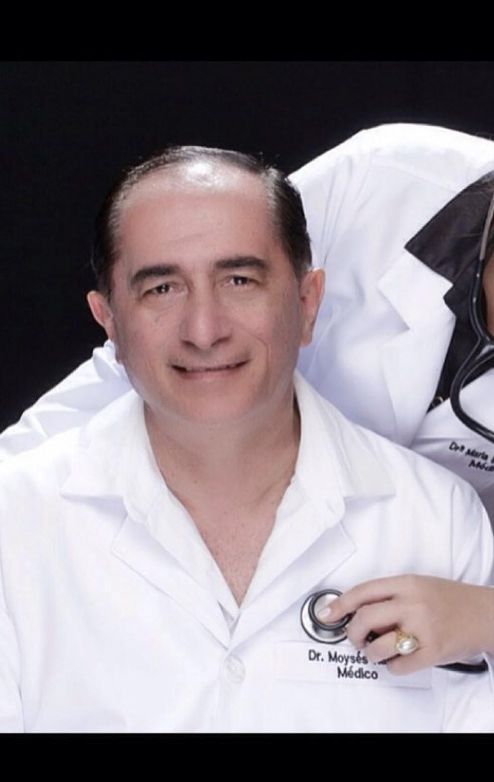 Moyses Nadaf Neto, de 65 anos, era ginecologista do Hospital Geral e Maternidade de Cuiabá — Foto: Facebook