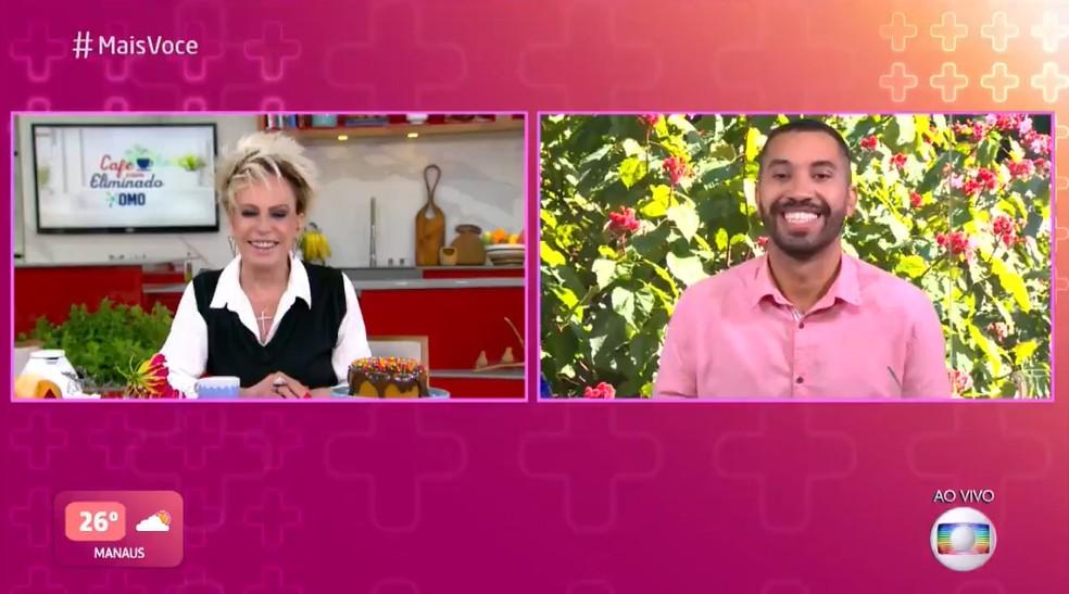 Gilberto  foi o entrevistado de Ana Maria Braga no 'Mais Você'  — Foto: TV Globo