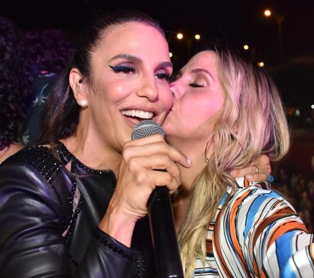 Ivete Sangalo e Carla Perez (Foto: Felipe Souto Maior/Brazil News)